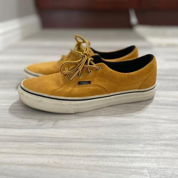 Vans Shoes | Yellow Suede Vans | Poshmark